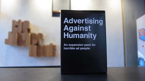 "Crass Advertising Cards - Advertising Against Humanity Targets ""Horrible Ad People"""