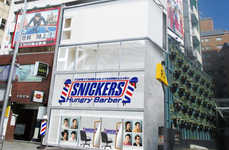 Zany Barber Shops - Snickers' Hungry Barber Shop Offers Crazy, but Free Haircuts