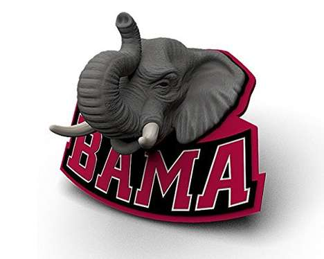 3D-Printed Pachyderms - This 3D-Printed University of Alabama Elephant Works As a Fridge Magnet