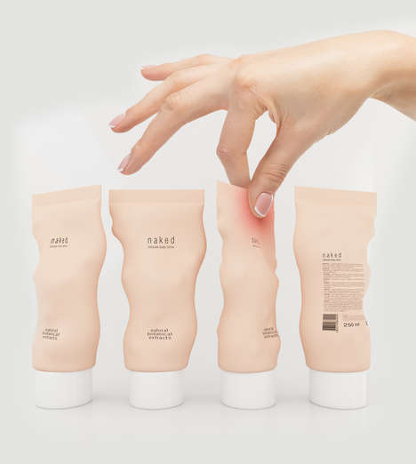 Fleshy Personified Packaging - This Intimate Care Product Packaging Mimics the Human Body
