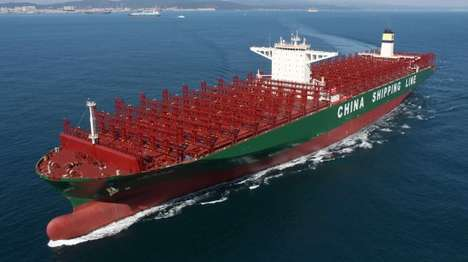Behemoth Cargo Ships - The CSCL Globe is the World's Largest Container Ship