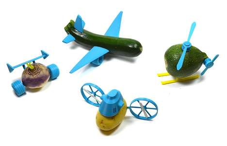Playful Food Attachments - Le Fabshop's Open Toys Turns Fruits & Veggies into Incredible Machines