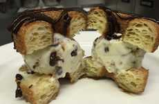 Cannoli Cronut Confections - This Cronut Creation is Filled with Homemade Cannoli Ice Cream