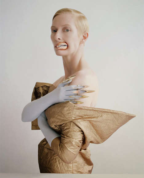 Otherworldly Celebrity Portraits - Tilda Swinton by Tim Walker is a Fairy Queen in this Photoshoot