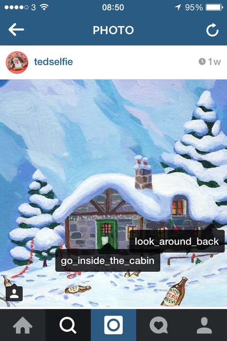 Social Adventure Campaigns - Ted Baker's Interactive Christmas Campaign is a Festive Instagram Hunt