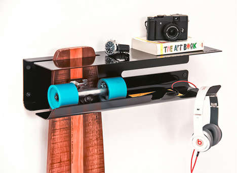 Skateboard-Displaying Shelving - Wall Ride by Zanocchi & Starke is Made for Organized Sport Lovers