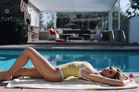 Vintage Swimwear Editorials - Luke Schuetrumpf Captures the Spirit of 1950s Los Angeles