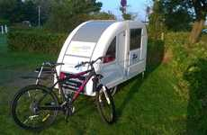 Bicycle-Towed Campers - This Conceptual Eco-Friendly Camper is Designed to be Pedal-Powered
