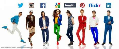 Social Network Fashion - Viktorija Pashuta Envisions Social Media Personified as Male Models