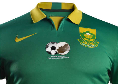 Golden Soccer Shirts - The South Africa Soccer Jersey Reflect's the Country's Pride and Future