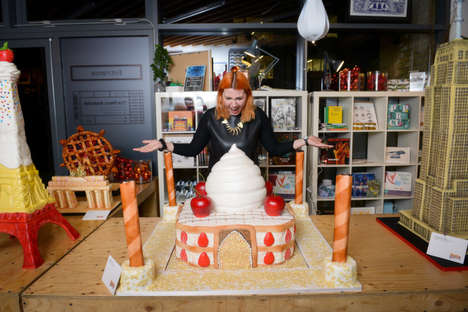 Edible Landmark Pastries - These Pastry Sculptures Mark the Launch of the Pastry Paradise App