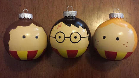 Wizard Christmas Baubles - These Hand-Painted Harry Potter Tree Ornaments Feature the Magical Trio
