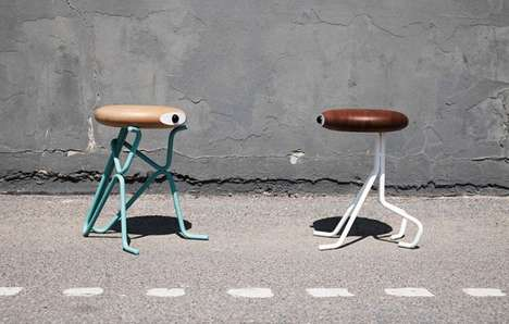 Cyclops-Like Seating - The Companion Stool by Phillip Grass Never Lets You Feel Lonely