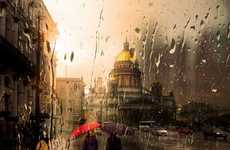 Painting Simulated Photography - Eduard Gordeev's Rainy Snaps Resemble Oil Canvas Murals