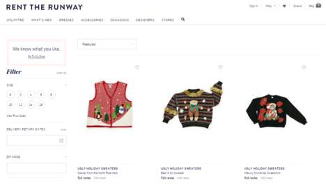 Festive Sweater Rentals - Rent the Runway Lets You Rent an Ugly Holiday Sweater for Christmas