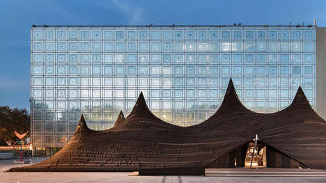 Sand Simulated Tents - The Kilo for Institut du Monde Arabe Installation Mimics Moroccan Tradition