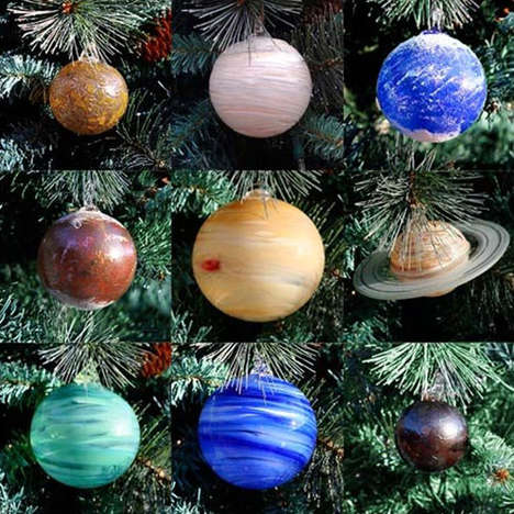 Celestial Glass Baubles - The Solar System Ornaments Make a Great Party Gift for Your Nerdy Friends
