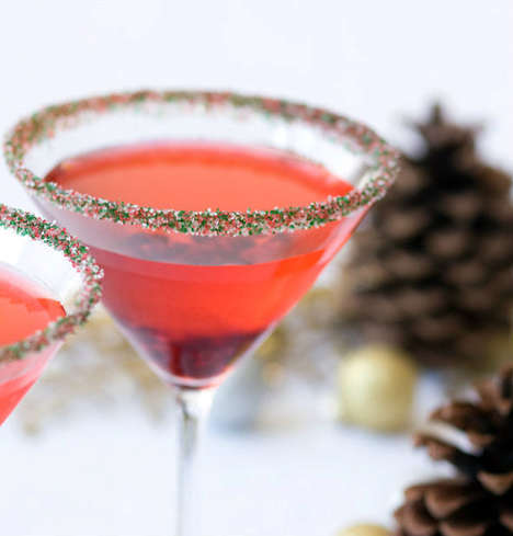 Christmas Cocktail Garnishes - Etsy's Festive Drink Sugar is Charming and Celebratory