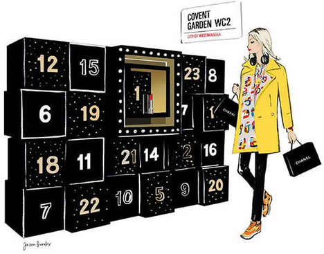 Fashionable Advent Calendars - Chanel's Christmas Advent Calendar is Filled with Treats for Fans