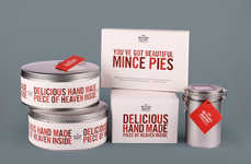 Festive Pie Packaging - This Packaging from the Butler's Pantry is Festive and Funny