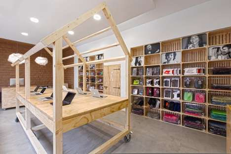 Farmstead Tech Shops - This Quirky Technology Store Design Plays Off of 'Apple'