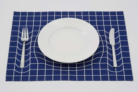 Mind-Bending Dinnerware - The A.P. Works Trick Mat Creates Distorted Illusions at the Kitchen Table