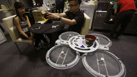 Flying Restaurant Servers - These Robotic Drones Deliver Customers Their Orders in Lieu of Servers
