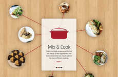 Multi-Course Cooking Apps - The Mix Eat App is an Aid for Multi-Course Meal Prep at Home