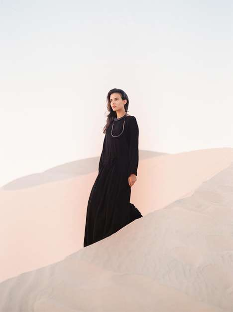 Exotic Desert Lookbooks - The Crescioni Spring 2015 Catalogue is Set Among the Desert