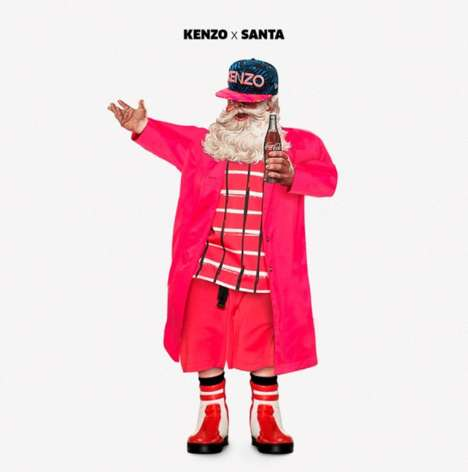 Fashionable Santa Cards - Joint London's Christmas Cards Show Off Designer Santa Claus Outfits
