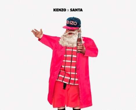 Fashionable Santa Cards
