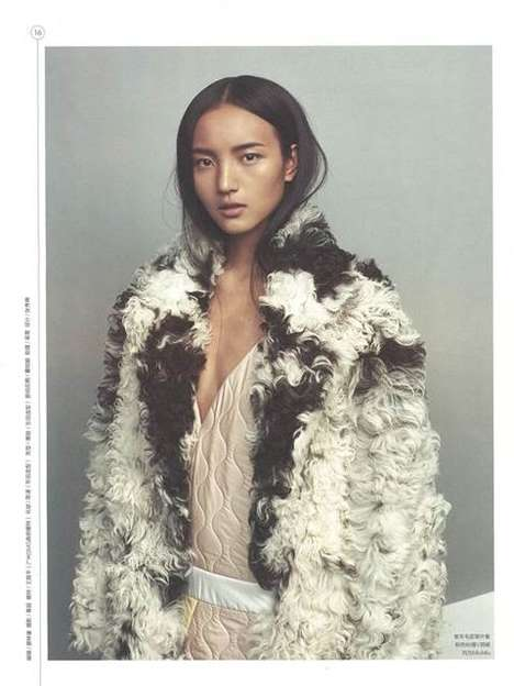 Futuristic Fur Editorials - The Monday Magazine Light Ripe Fur Photoshoot is Highly Modern