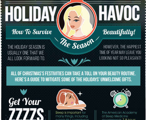 Winter Beauty Infographics - These Holiday Beauty Tips Will Help You Survive a Stressful Season