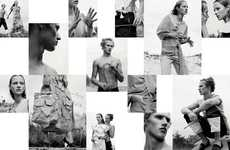 Stylish Scrapbook Editorials - The Jonathan Anderson Interview Magazine Photoshoot is Cut and Paste