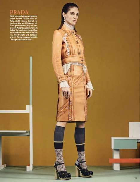 Style Forecasting Photoshoots - The So Beautiful So Chic Trends Editorial Provides a Fashion Review
