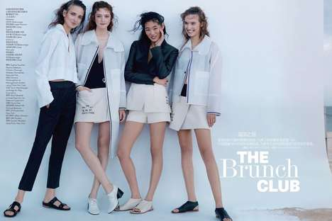Film-Themed Photoshoots - The Brunch Club Vogue China Editorial is Modeled After a Cult Classic