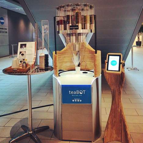 Touchscreen Tea Machines - teaBOT's Tea Vending Machine Lets You Craft Your Own Loose Leaf Blends