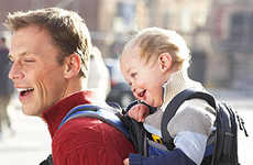 Daddy Daypack Carriers - The Deuter KangaKid Backpack is Designed for On-the-Go Dads