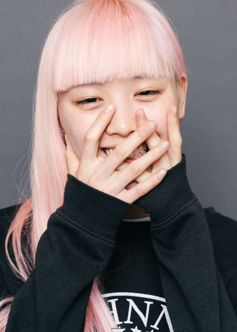 Candid Pink-Haired Portraits - The Ones 2 Watch Fernanda Ly Editorial is Carefree and Raw