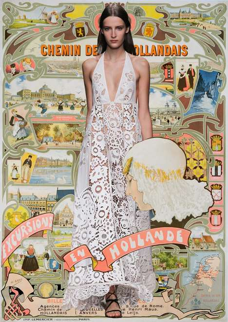 Couture Travel Posters - The Miss Moss Valentino Spring/Summer 2015 Illustrations Are Visionary