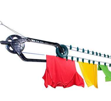 Automated Outdoor Laundry Lines - The CordoClip Auto Clothesline Kit is Quick and Energy Efficient