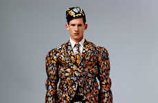 Flamboyant Cadet Catalogs - The Latest Thom Browne Menswear Collection is Vibrantly Patterned