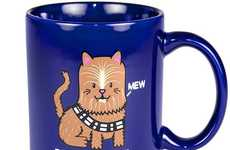 Cat-Themed Co-Pilot Cups - This Star Wars Mug Features a Wookie Kitty Inspired by Chewbacca