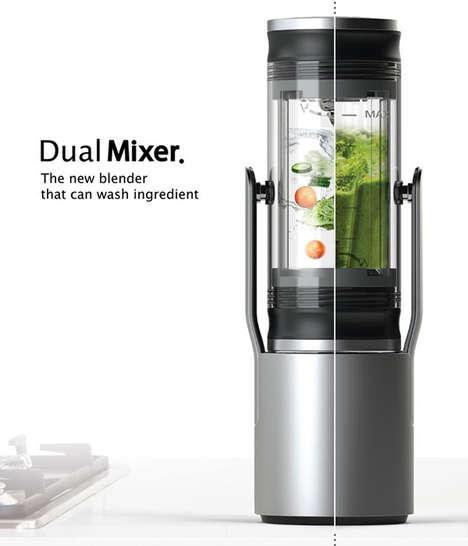 Multipurpose Beverage Blenders - The Yanko Design Dual Mixer Cleans and Prepares Drinks All-in-one
