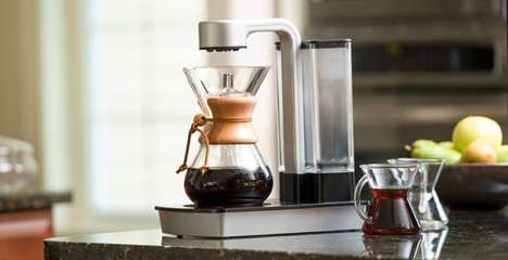 Hourglass Coffee Machines - This Automatic Coffee Machine by Chemex Boasts Ultra Precise Brewing
