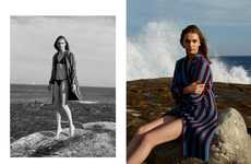 Subdued Sunbathing Editorials - The Russh Magazine Meet Me There Photoshoot is Muted and Effortless