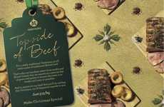 Grocery Gift Wrap Ads - Morrisons' Grocery Store Print Ads Are Styled Like Wrapping Paper