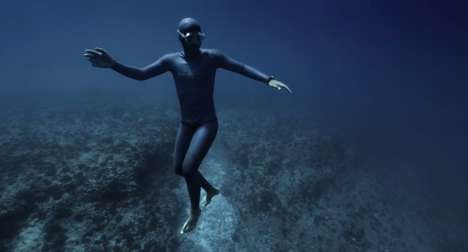Surreal Scuba Diver Films - Guillaume Nery and Julie Gautier's Ocean Gravity Video is Dreamlike