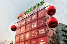 Shipping Container Calendars - Toyota's Shipping Container Advent Marks Big Holiday Giveaways