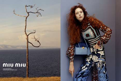 Haute Unkempt Campaigns - The Miu Miu Resort 2015 Lookbook Features Flowing Messy Tresses